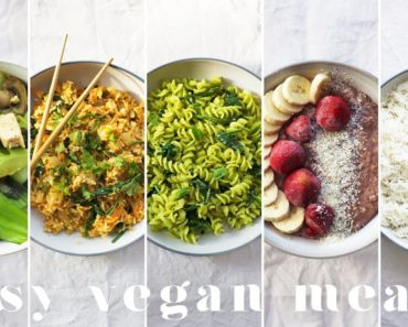 MY GO-TO EASY VEGAN MEALS | 5 Lazy & Cheap Recipes