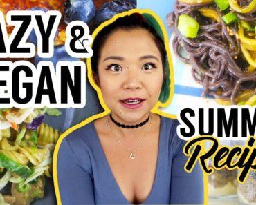 ULTRA LAZY VEGAN RECIPES #5 // Summer High Protein Vegan Recipes