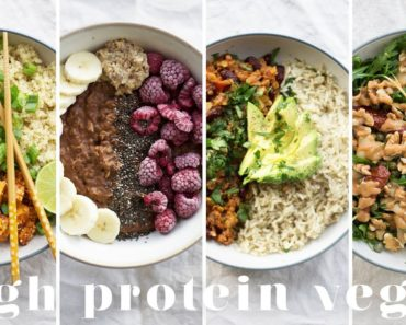 HIGH PROTEIN VEGAN MEALS | 5 Recipes = 173g Protein