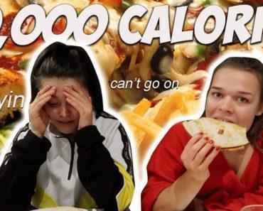 10,000 CALORIE CHALLENGE   vegan edition   girls vs food