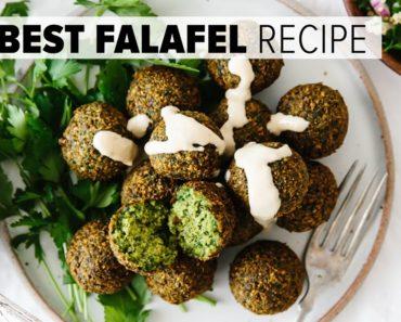 THE BEST FALAFEL RECIPE   crispy fried and baked falafel (vegan)