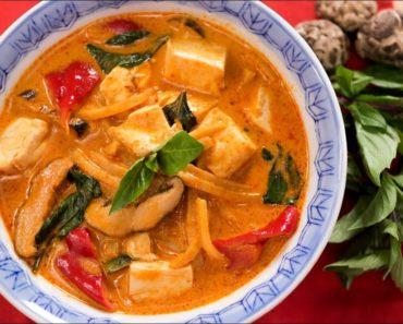 Vegan Thai Red Curry Recipe แกงเผ็ดมังสวิรัติ   Thai Recipes