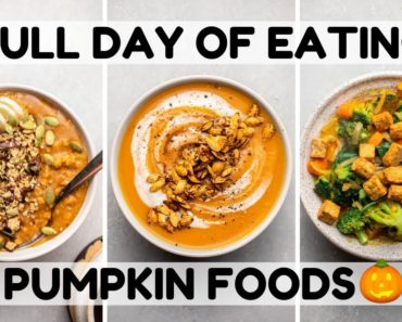 Eating Only PUMPKIN Foods For a Day ?(Vegan)