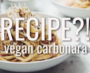 VEGAN CARBONARA | RECIPE?! EP #19 (hot for food)