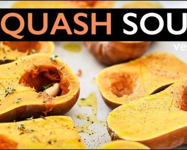 VEGAN THANKSGIVING BUTTERNUT SQUASH SOUP RECIPE!