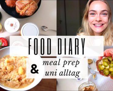 FOOD DIARY mit MEAL PREP & UNI FOOD | vegan, gesund & intuitiv | Lea Groenniger