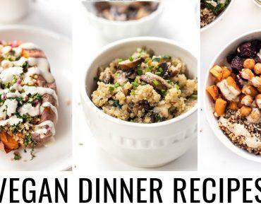 3 EASY VEGAN DINNER RECIPES   all made with quinoa 💯