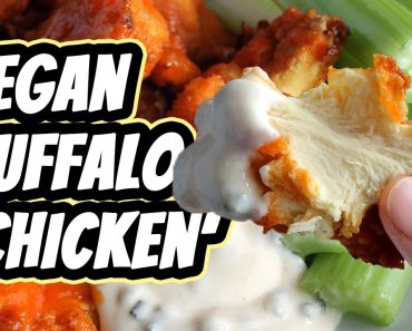 Vegan Buffalo Chicken [baked]   Recipe by Mary's Test Kitchen