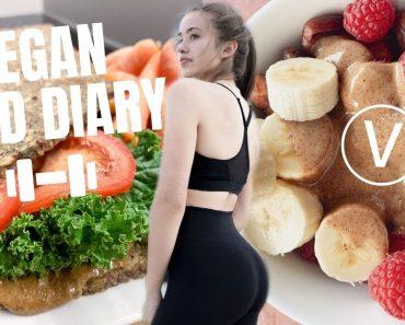 vegan food diary // das esse ich an einem restday & Arbeitstag (wenig Aufwand)