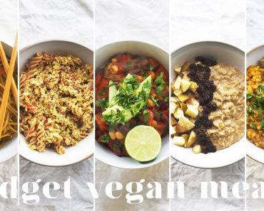 5 VEGAN MEALS UNDER £1($1.50)   Budget-friendly Recipes for Beginners