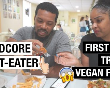 MEAT-EATERS TRY VEGAN FOOD FOR THE 1ST TIME!