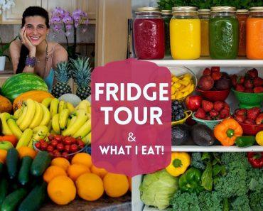 Fridge Tour + What I Eat   FullyRaw Vegan Food Haul