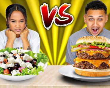 MEAT VS VEGAN FOOD CHALLENGE