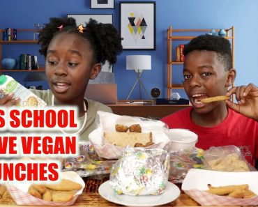 WHAT I EAT IN A DAY VEGAN    KIDS SCHOOL LUNCHES