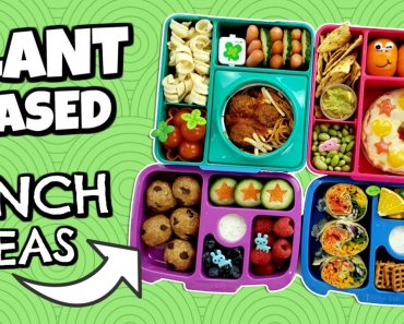 4 Plant-Based Meals for Kid's LUNCHBOXES! | Bunches of Lunches