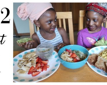 what our 6 vegan kids eat in a day | hearty breakfast | family of 8