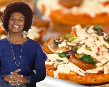 Making Vegan Mini Pizzas With Tabitha Brown