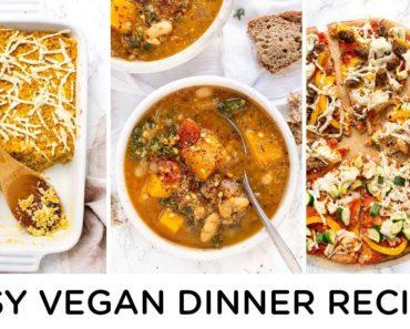 EASY VEGAN DINNER RECIPES ‣‣ for family or vegan beginners