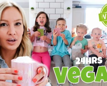 We Ate Only VEGAN FOOD for 24hrs ( family of 6 )