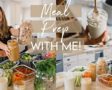 EASY & HEALTHY VEGAN MEAL PREP   save time in the kitchen