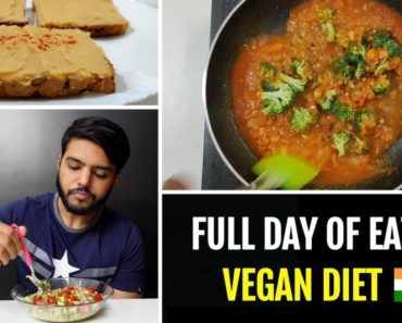 Full Day Of Eating Vegan Food For Fatloss + Preparation (No meat/dairy/eggs) Vegan Protein Powder 🇮🇳
