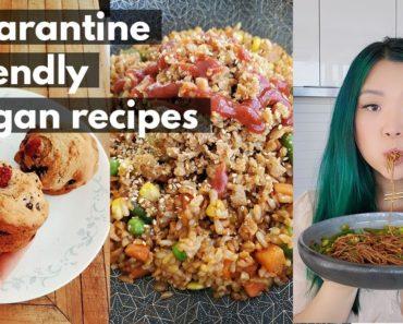 COOK WITH ME! Quarantine Friendly Vegan Recipes (part 2) // pantry & freezer recipes