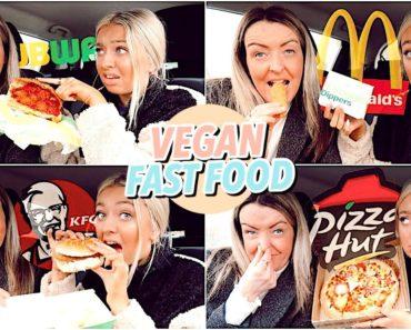 Trying VEGAN Fast Food!! McDonald's, Subway, KFC & Pizza Hut!