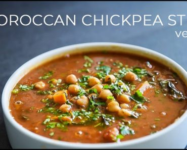 VEGAN MOROCCAN INSPIRED CHICKPEA STEW RECIPE | EASY ONE POT MEAL!