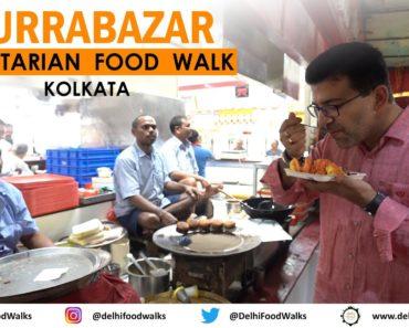 BURRABAZAR Vegetarian FOOD Walk in KOLKATA I KACHORI (Matar, Pyaaz & Kadi) + MALAI Roll + Hot MILK