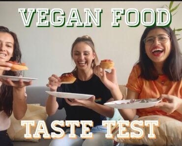 youtubers try vegan food for the first time (ft momina munir and alina hayat)