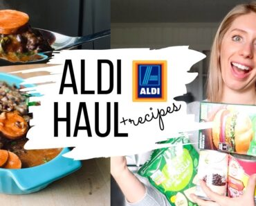 VEGAN FOOD FROM ALDI   Haul with Budget Recipes and Meal Ideas!