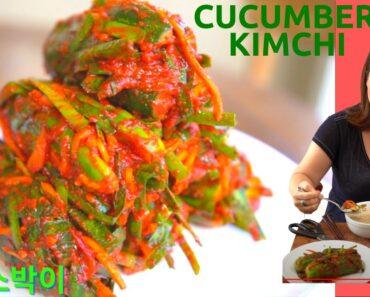 Cucumber Kimchi: Oi-sobagi (오이소박이) 🇰🇷Traditional + 🌱Vegan Recipes (전통 + 채식/비건 오이소박이 레시피)