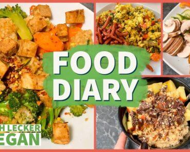 Das ESSE ich in 6+ TAGEN VEGAN 🌱 FOOD DIARY – einfache & schnelle Gerichte