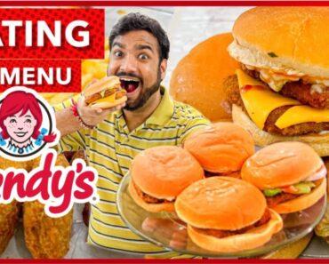 Wendy's Eating All Menu Food Challenge | Veggie Paaji