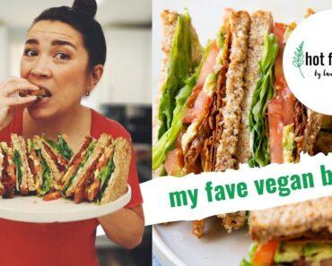 my fave vegan bacon (yuba bacon recipe + BLATs!)   hot for food by Lauren Toyota