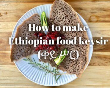 Easy vegan recipes:How to make Ethiopian food keysir (ቀይ ሥር) beetroot dish recipe in English