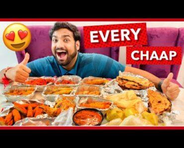 Eating Every Type of Chaap Food Challenge | Veggie Paaji