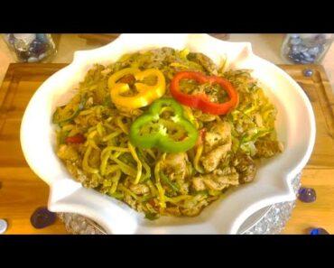 LEAN CUISINE – Weight Loss Chicken Veggie Lo Mein (Squash & Cucumber)
