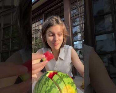 Watermelon + honey #eatingsounds #eating #foodsounds #foodtiktok #vegan #food #eatingfood #eatingasm
